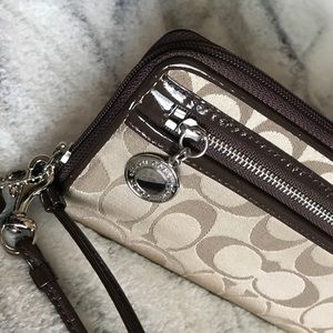 Coach Bags - Authentic Coach Brown Signature Wallet